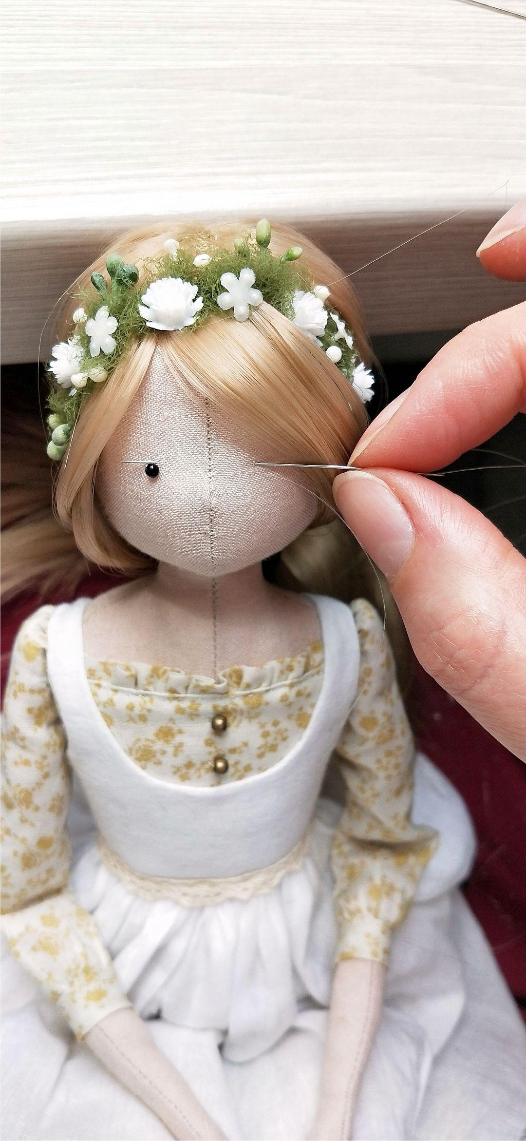 handmade sewing #handmade ...work in progress... handmade sewing doll