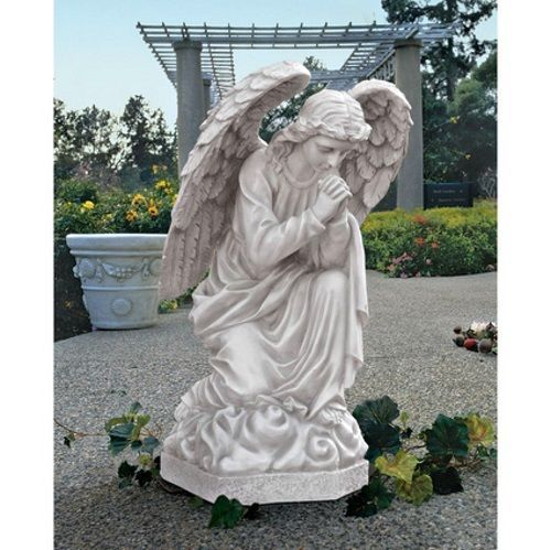 Large Praying Basilica Indoor Outdoor Garden Angel Statue Sculpture Db24728 26 H Angel Garden Statues Angel Statues Garden Angels
