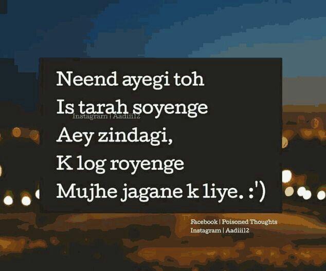 Pessimistic But True Zindagi Hindi Quotes Sad Quotes Quotes