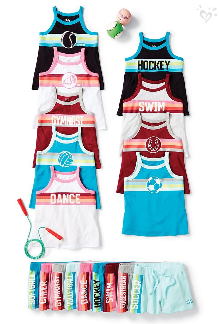 The Cool New Justice Active Collection Kicks Off Her Summer Of Fun In Sport Reppin Style Justice Clothing Justice Clothing Outfits Kids Activewear