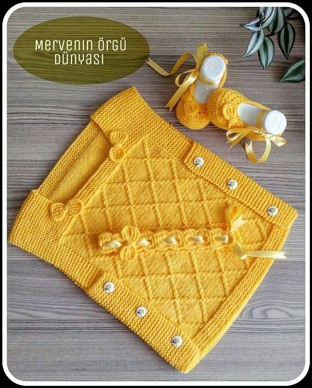 Alinti Baby Knitting Patterns Orgu Bebek Yelek