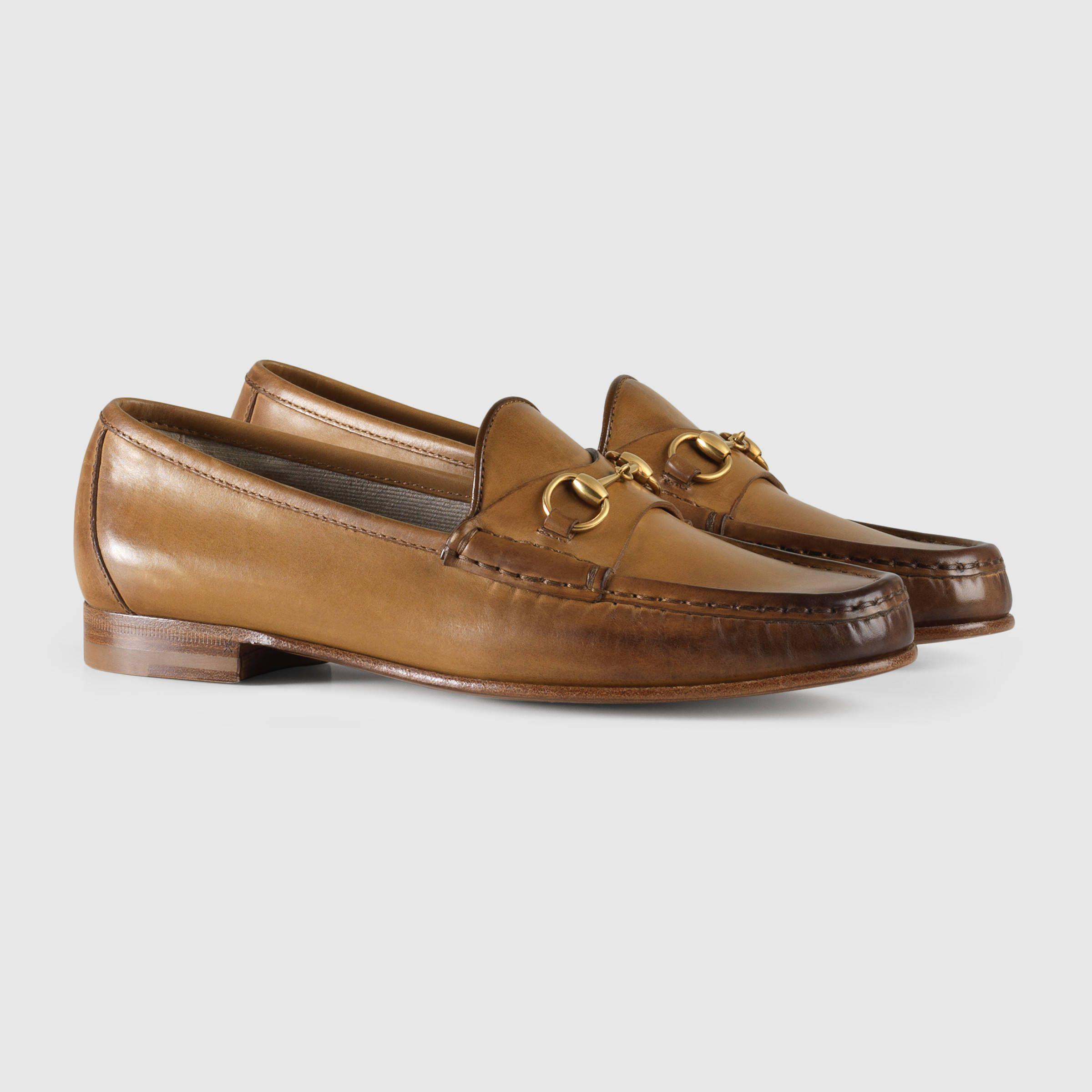 2b71d7fd3b7 Gucci Women - 1953 horsebit loafer in leather - 309701BLM002527 ...