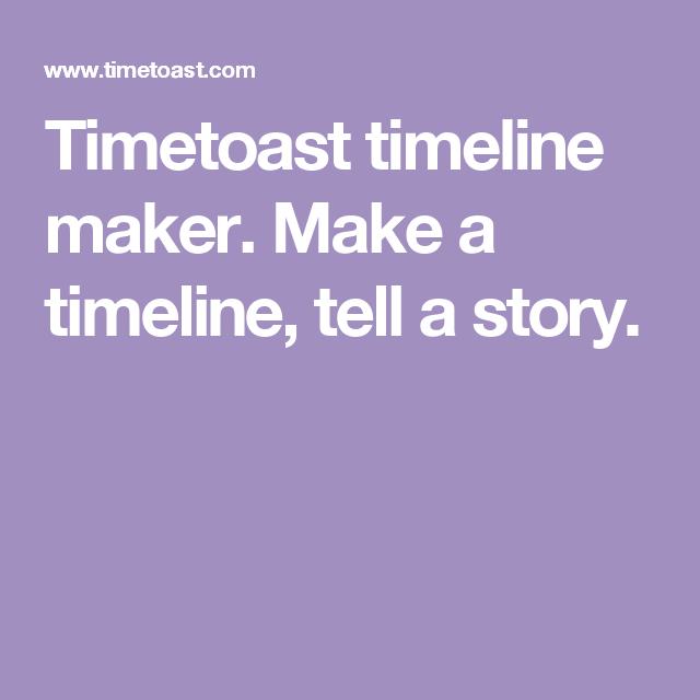 timetoast timeline maker make a timeline tell a story timeline