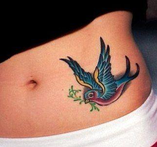 Sparrow Tattoo Jpg 322 301 Pixels Tattoo On Hip Bone Hip Tattoo Bluebird Tattoo