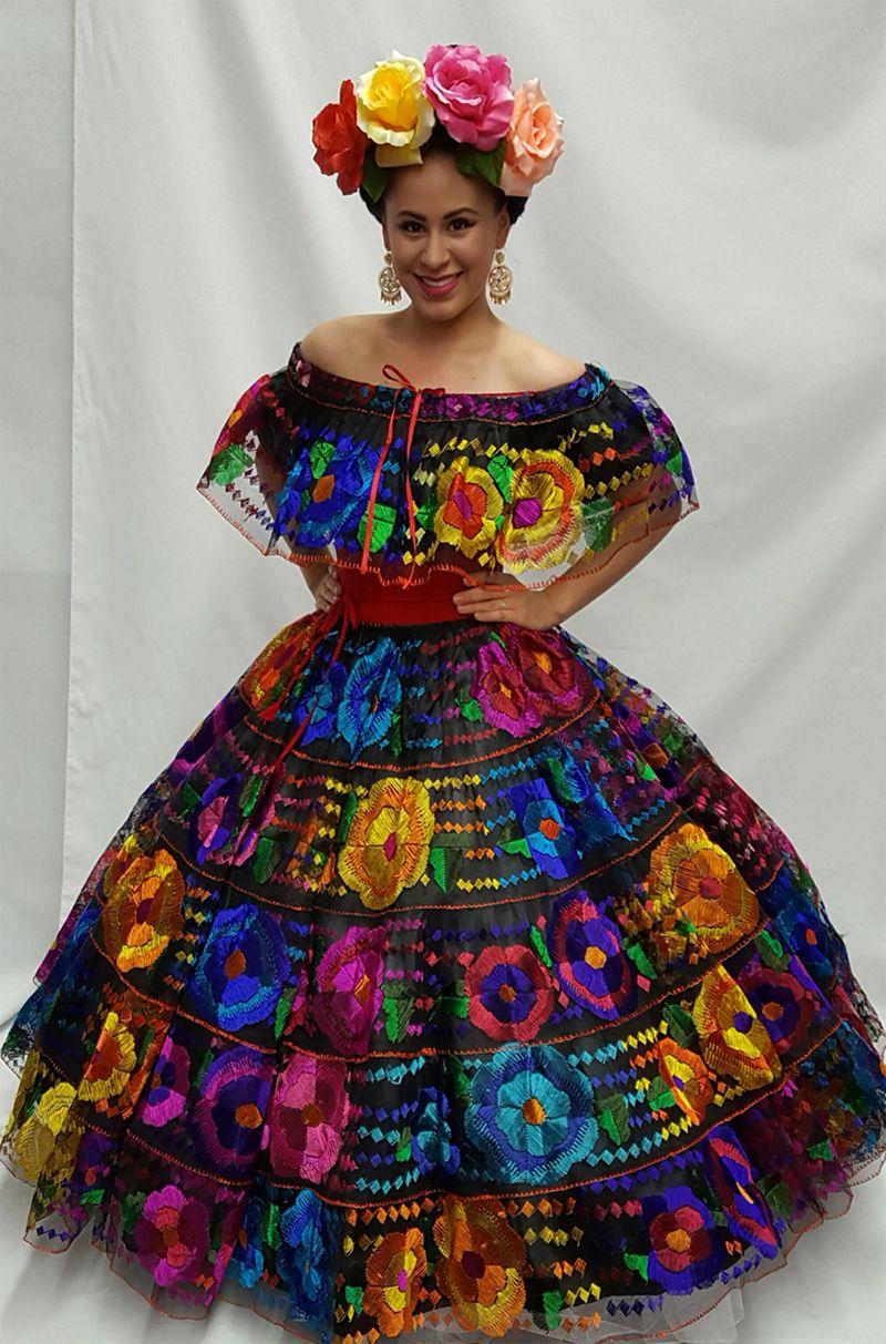 ebb5056a4e vestido de chiapas sencillo