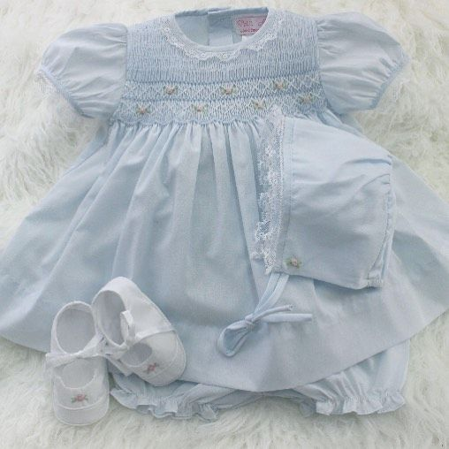 14c232cea5e2 Newborn Girls Smocked Dress with Bonnet   Bloomers  39 IN STOCK ...