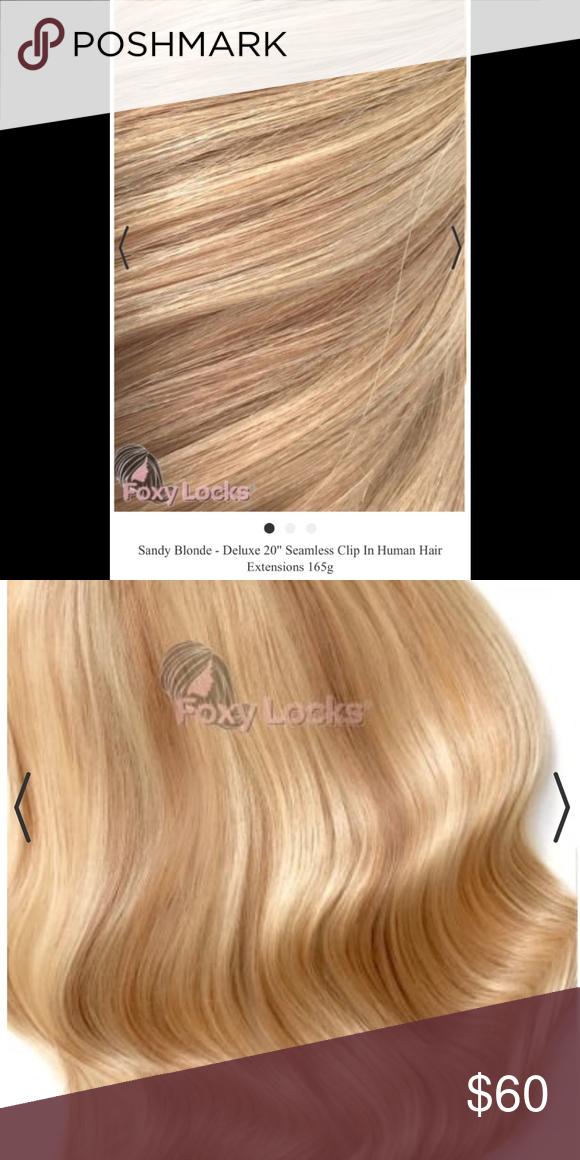 Foxy Locks Deluxe Hair Extensions Sandy Blonde Pinterest Sandy