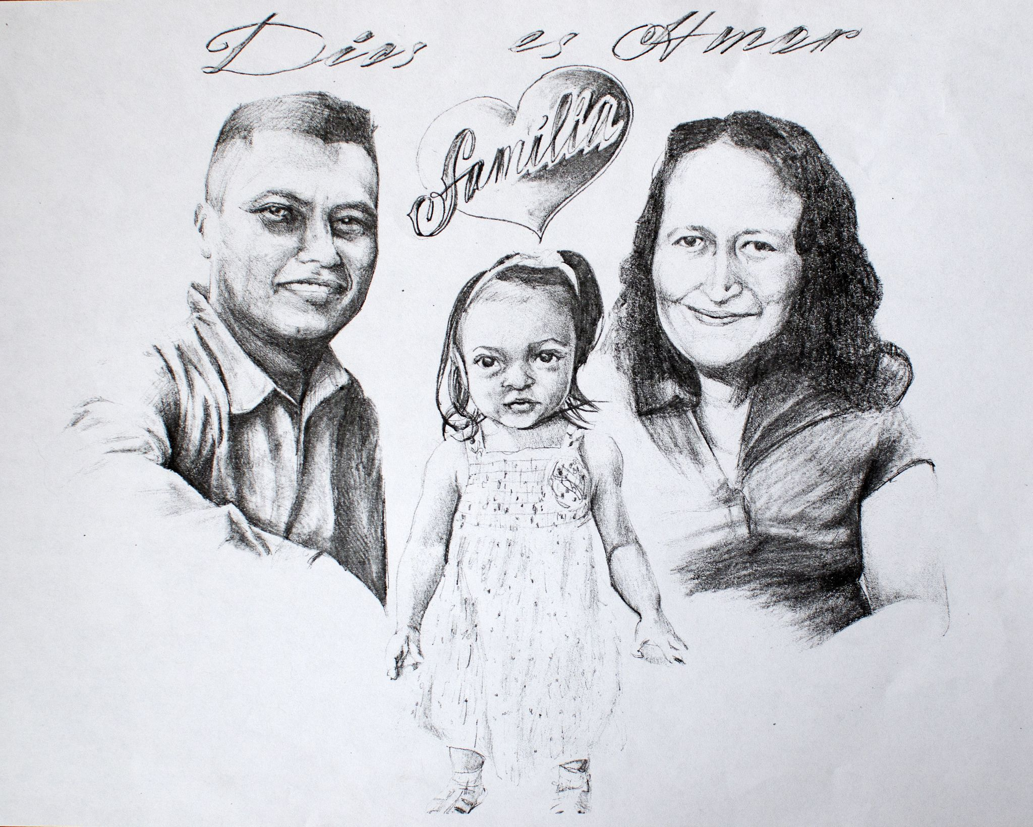 Family portrait pencil drawing my art pencil drawings family