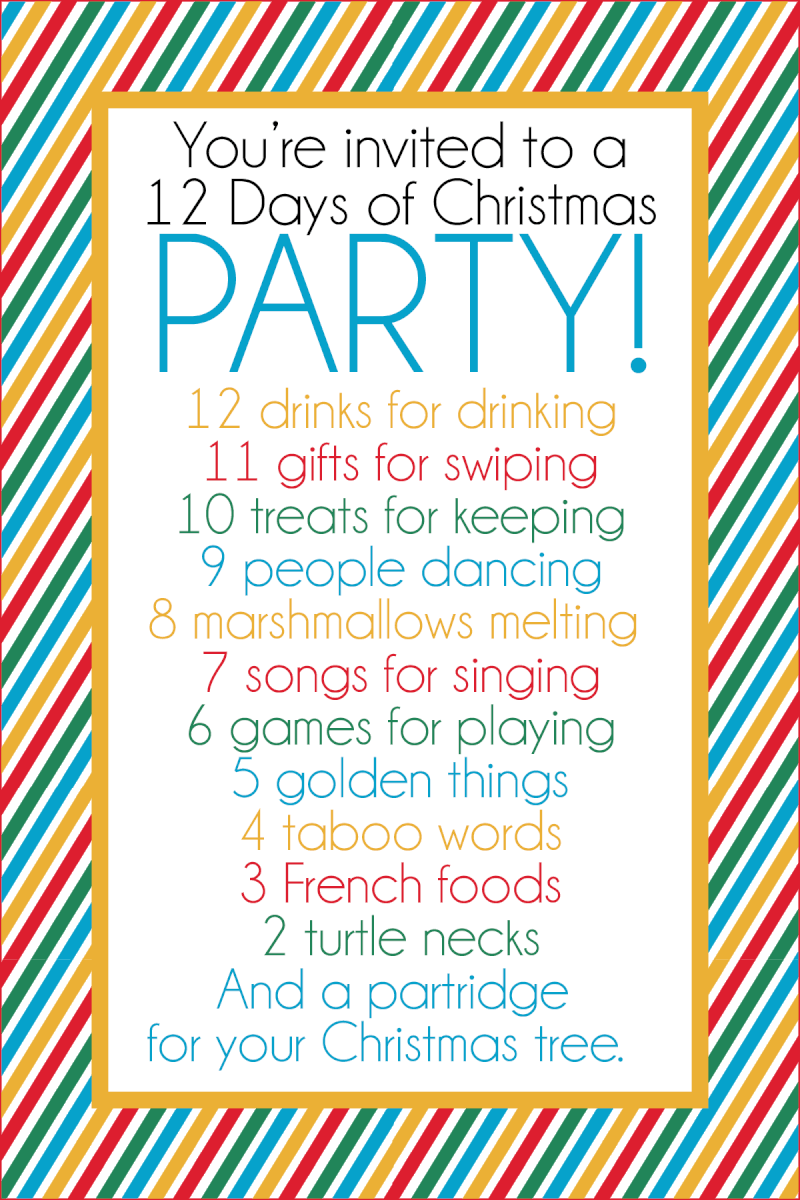 Wonderful Christmas Party Ideas For Family And Friends Part - 13: ... 12 Days Of Christmas Party Has It All - Gift Ideas, Printables,  Activities, Decorations, And More! Thereu0027s Fun For The Entire Family And  For Friends!