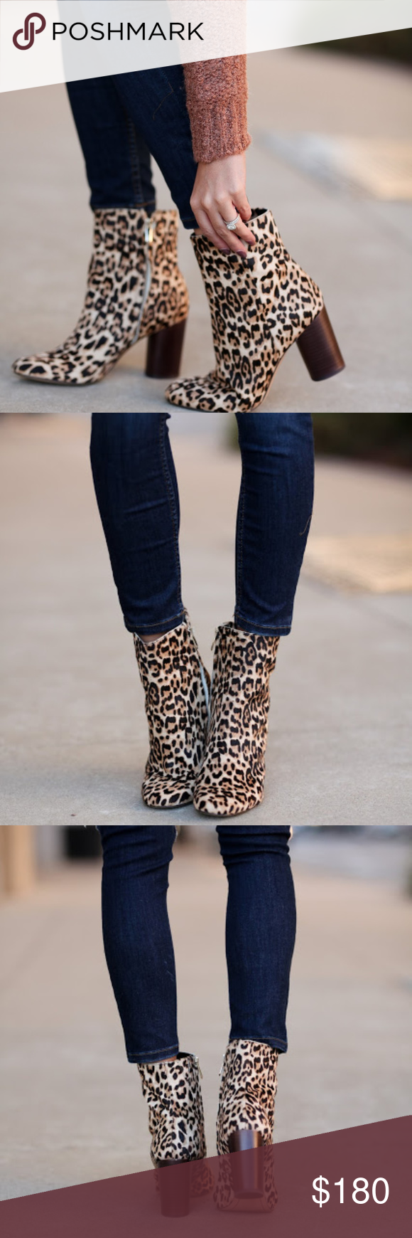 9abaacd96e46 NWT Sam Edelman Corra Leopard Booties A timeless style that goes with  virtually everything in your