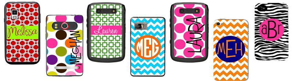 """Personalized OTTERBOX phone cases.--perfect for the """"she already has everything"""" person!"""