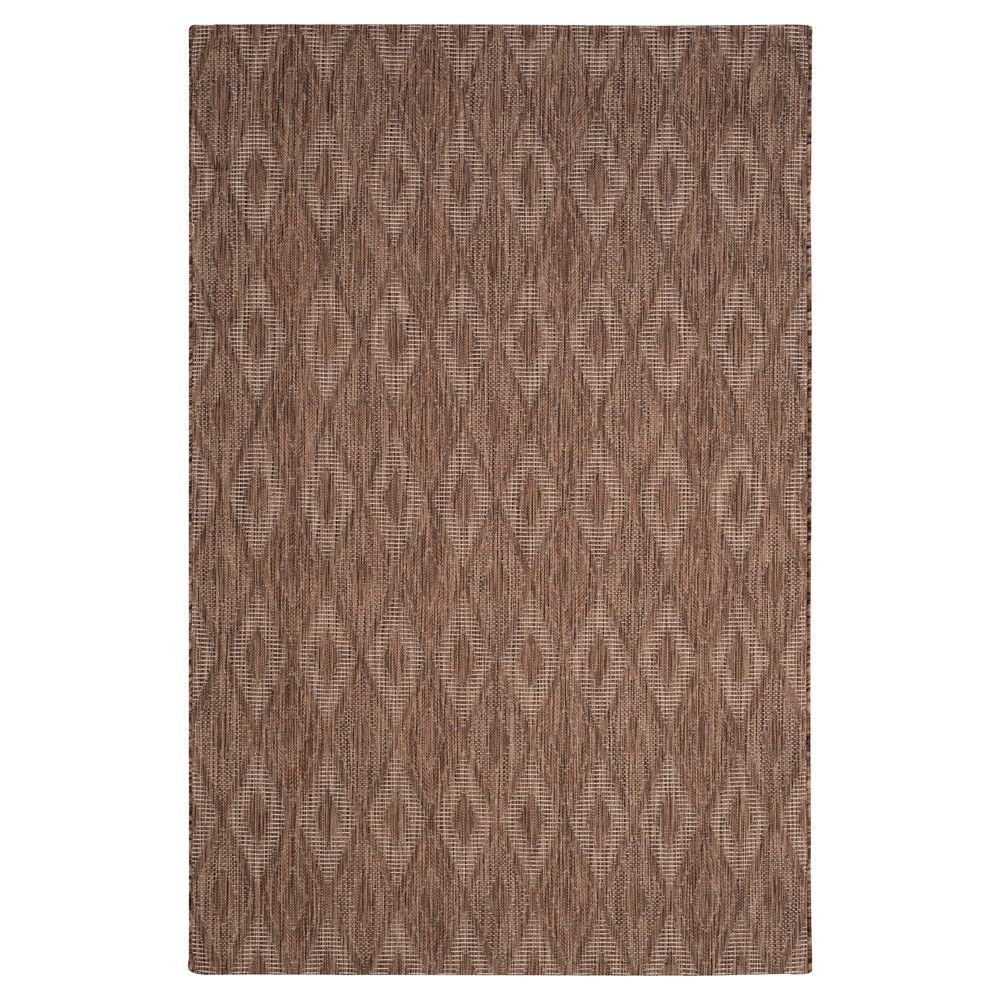 Bolton Square 67 X 67 Outdoor Rug Brown Brown Safavieh