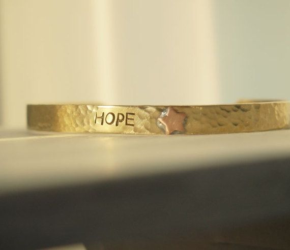 Hope bracelet Breast cancer gifts by CoordinatesBracelets on Etsy