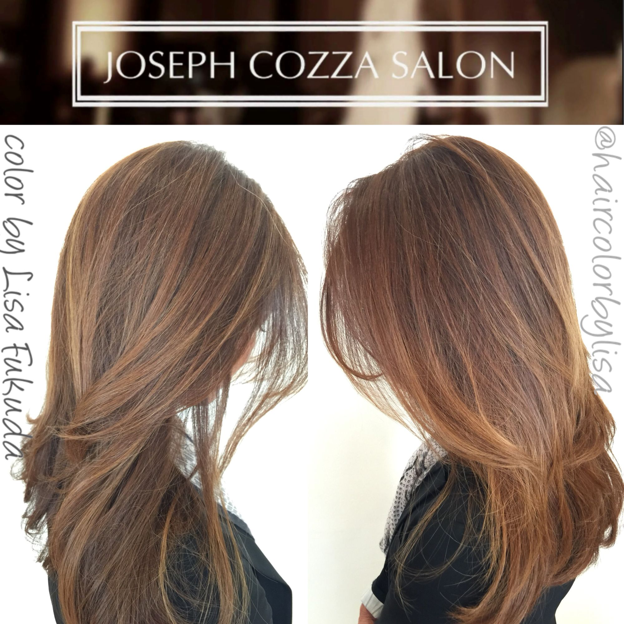Blonde Soft Ombré on Brunette Balayage Highlights by Lisa Fukuda &CocoAlexander Styled by CocoAlexander  JosephCozzaSalon 77 Maiden Lane Sf Ca 1415 4333030 followme @haircolorbylisa