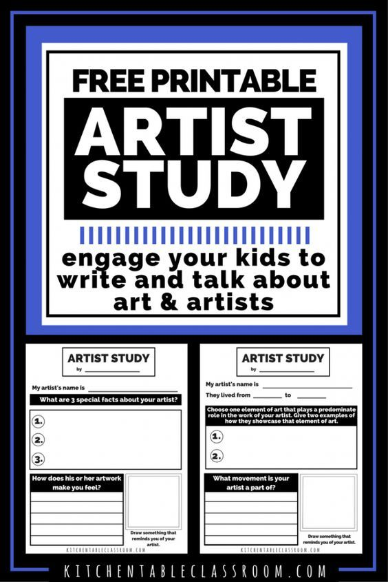 Artist Study Worksheets Talking Writing About Art With Kids The Kitchen Table Classroom Art History Lessons Art Analysis Art History