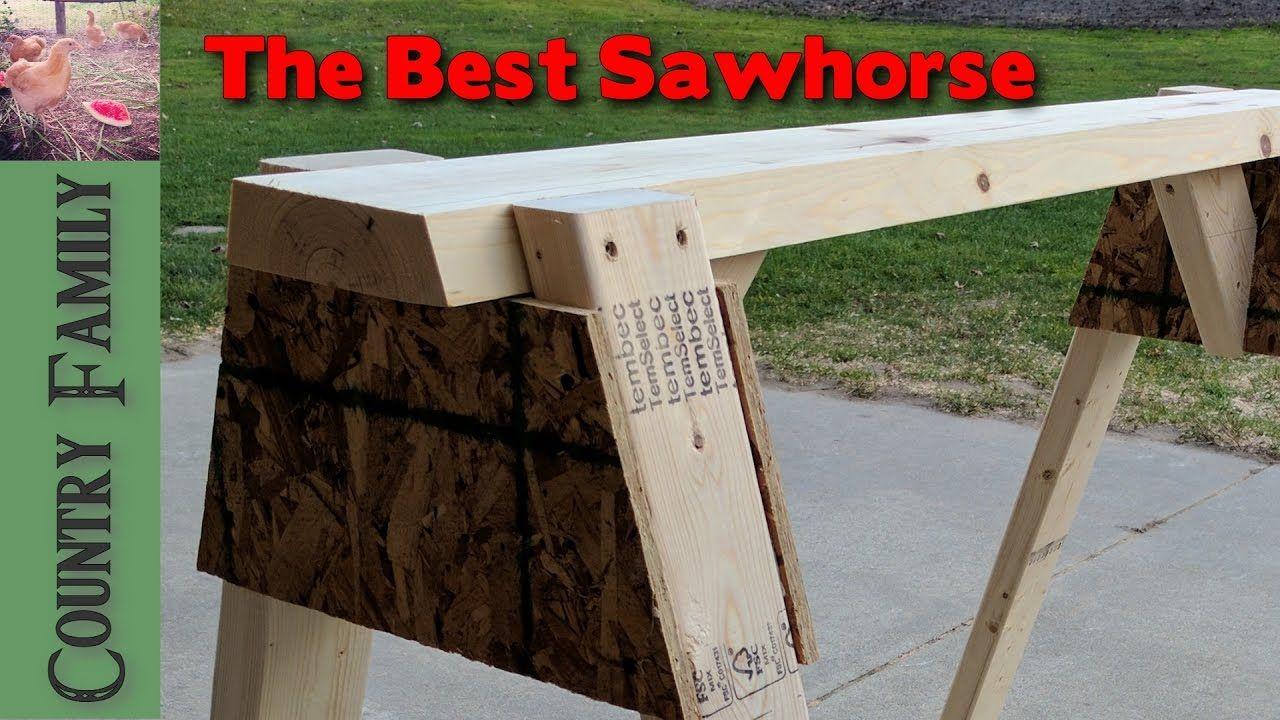 The Best Sawhorse   Sawhorse, Sawhorse plans, Diy shops