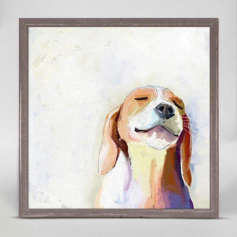 Best Friend Beagle Grin Wall Art Beagle Art Dog Paintings Art