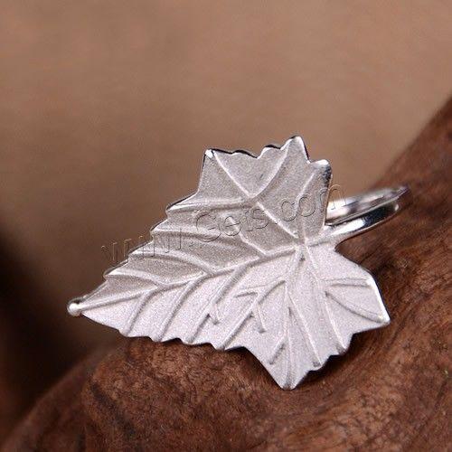 925 Sterling Silver Open Finger Ring, Leaf