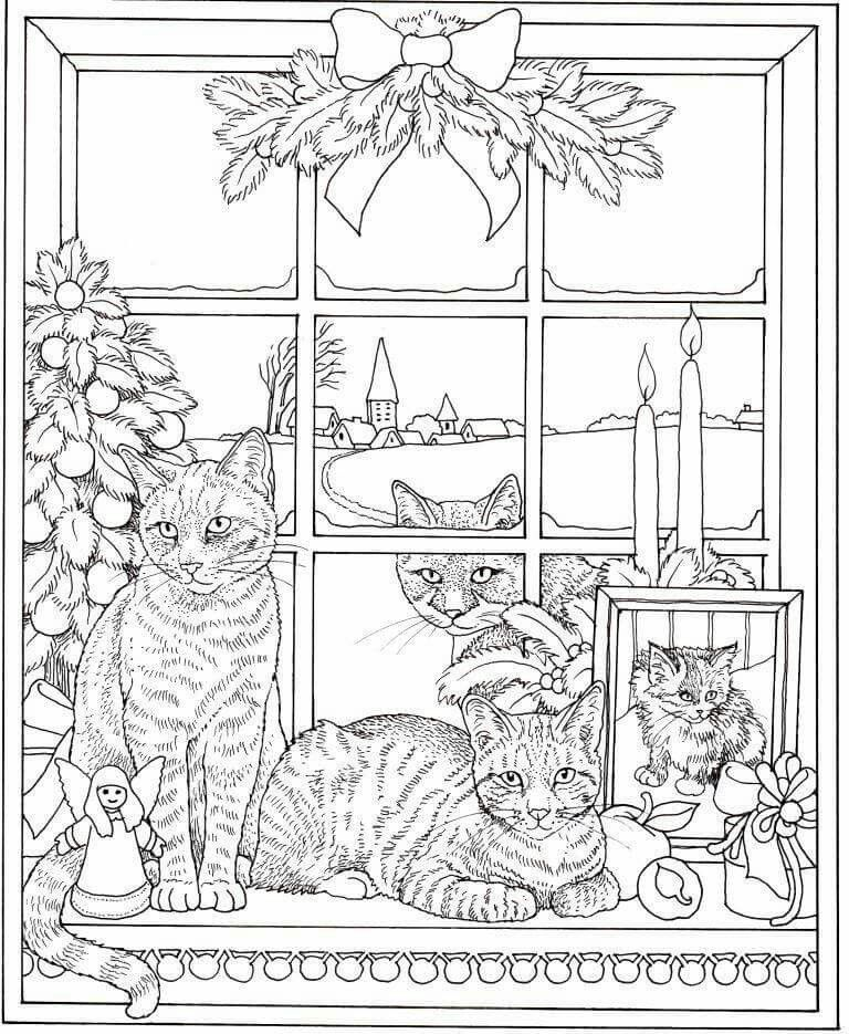 Pin by Isbell on Cats, Cats Mandala coloring