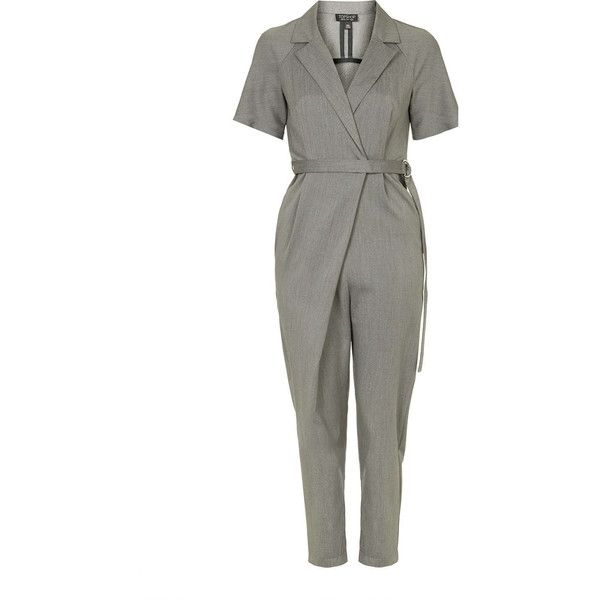 TopShop Wrap Belted Jumpsuit (170 TND) Liked On Polyvore