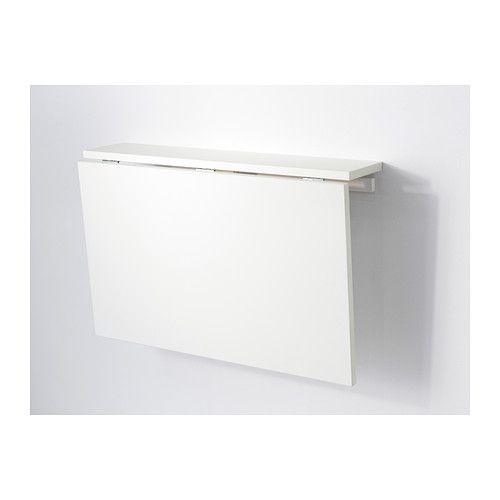 Wandklapptisch ikea  NORBERG Wandklapptisch, weiß | Wandklapptisch, Ablage und Gegenstände