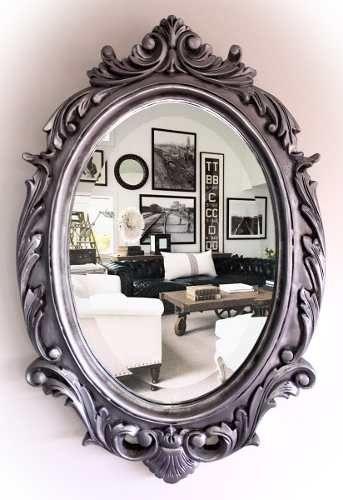 Espejos Arte Y Antigüedades Trustful Bonito Antiguo Oval Marco De Fotos