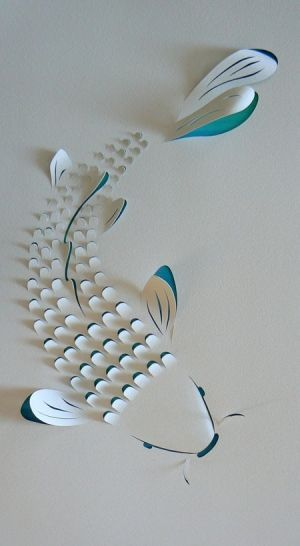 Wow! Papierfisch Koi In 3D Optik