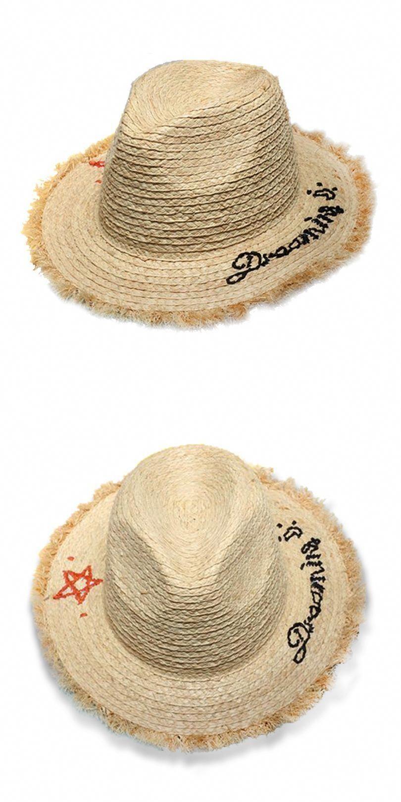 c398c5f77ecfc GGOMU NEW summer fashion sun hats for women Embroidery star letters Frawned  Rafi floppy ladies girls straw hat ZLH-005  HatsForWomenFloppy   ballhatsforwomen