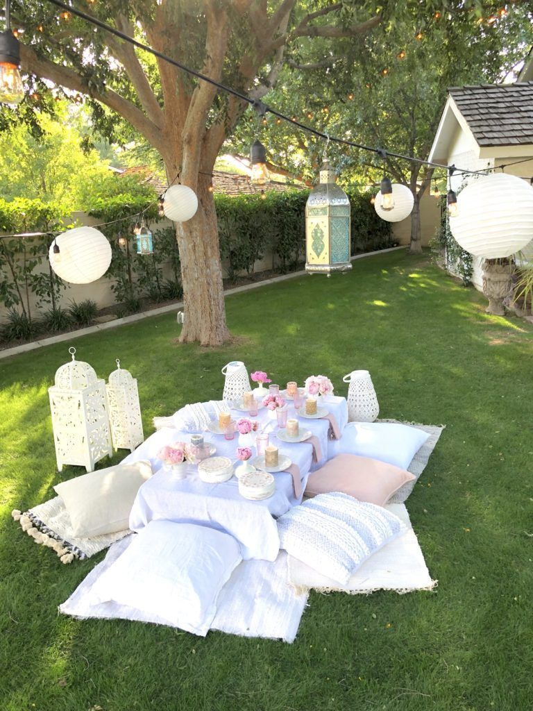 Moroccan Party Picnic On The Lawn Moroccan Party Lawn Party Decorations Outdoor Party Decorations