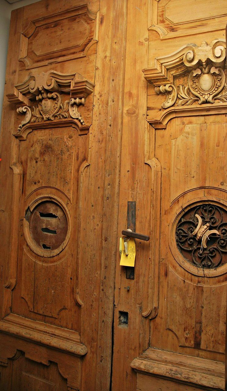 A Pair of French Carved Pine Doors. @Graham Jenkin Geddes Antiques,  Melbourne - A Pair Of French Carved Pine Doors. @Graham Jenkin Geddes Antiques