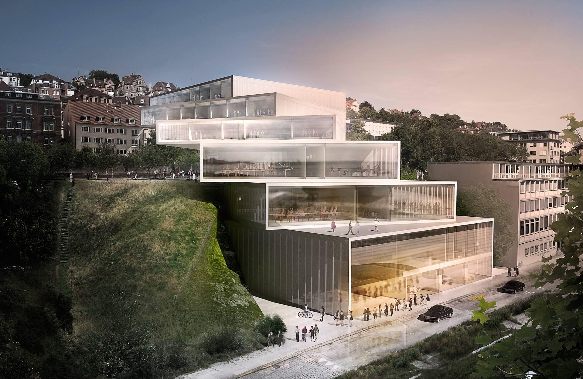 Architects Stuttgart 3xn cranko ballet 卒業制作のアイディア