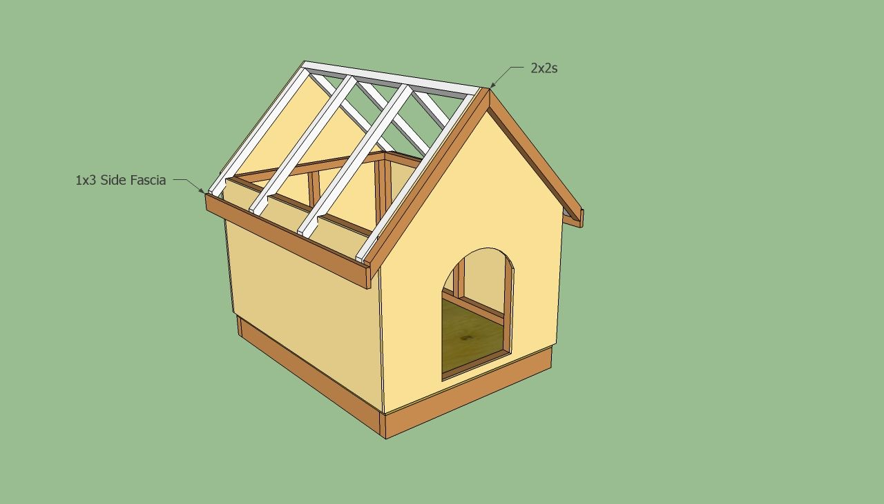 Dog House Plans Free Howtospecialist How To Build Step By Step Diy Plans Dog House Blueprints Dog House Plans Large Dog House