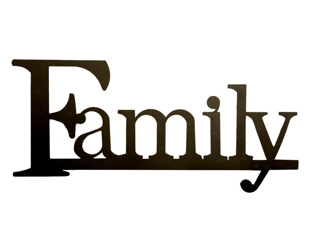 hight resolution of all word family clipart