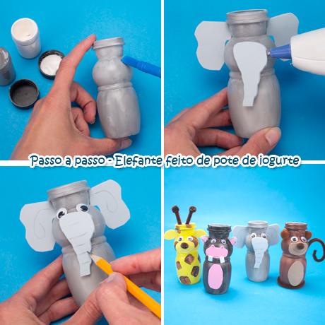 Suficiente Lembrancinhas para Festa Safari - Animais feitos com Potes de  ZC46