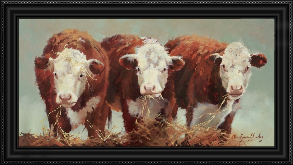 Three Of A Kind Cow Art Animal Art Cow Pictures