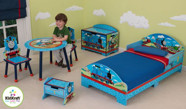 Childrens Kids Bedroom Furniture Set Toy Chest Boxes Ikea: Toddler Bed, Toy Box, Step 'n Store