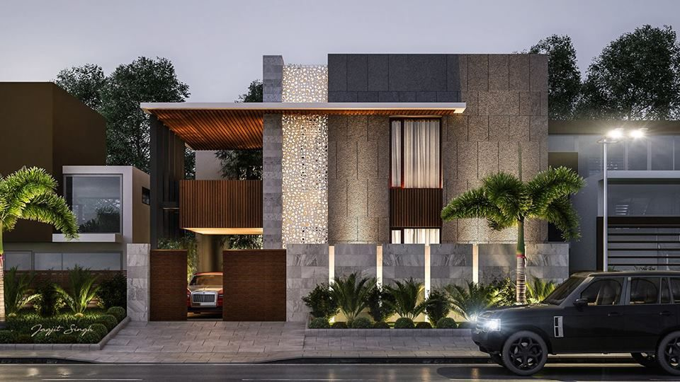 Pin by Piotr Mrówczyński on ARCHITECTURE + HOUSE in 2019 ... Wall Of House Front Residential Design on front of house storage, front of house trees, front of house landscaping, front of house awards, front of house signs, front of house decor, front of house lighting,