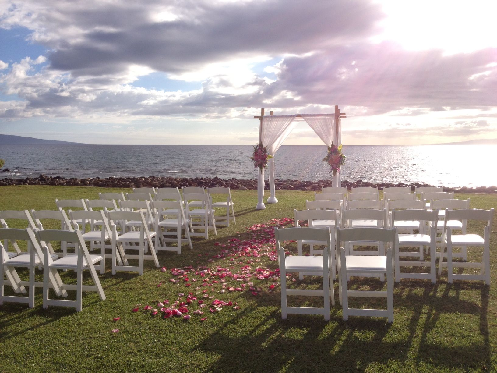 Here S A Little Ceremony Inspiration For Wedding On The Kahoolawe Lawn At Waileamarriott Wailea Marriottmaui