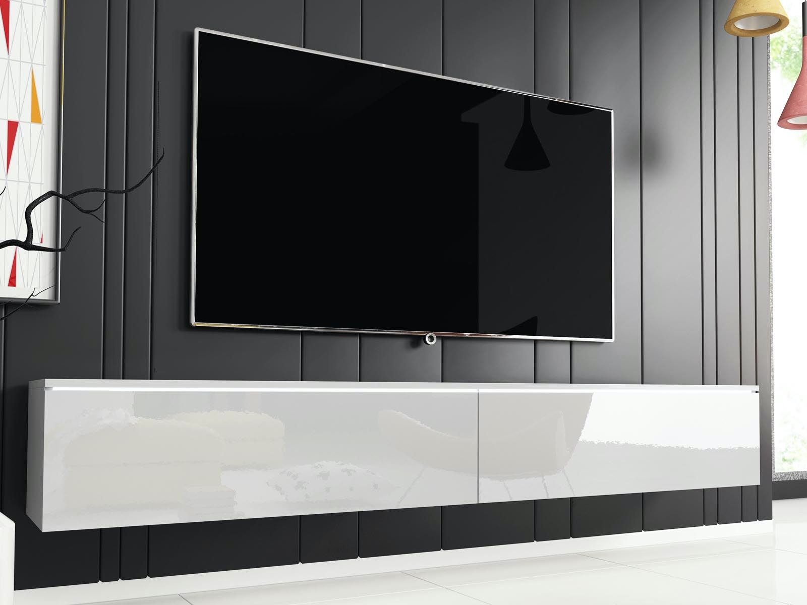 meuble tv hifi dubai 2 portes battantes