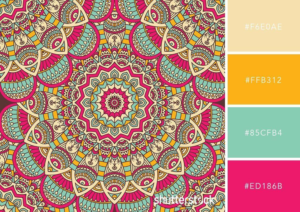 Colores Combinaciones Couleur Disenos Emocionantes Mandalas Mandalas Wallpers C Color Palette Bright Color Schemes Colour Palettes Color Schemes Design