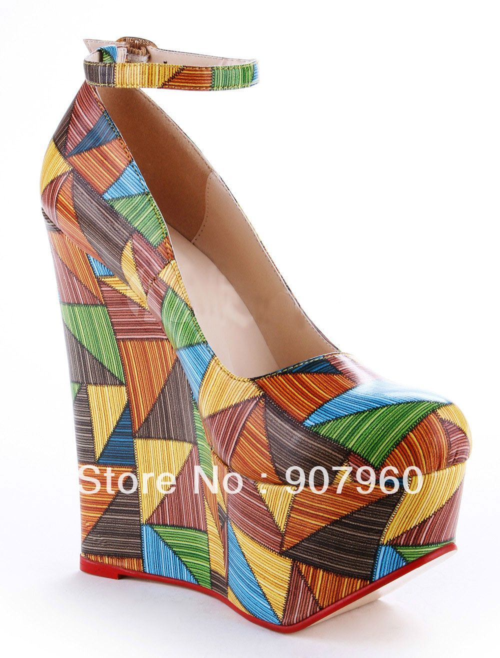 2014 new fashion sexy women's multicolor zappos wedge high ...