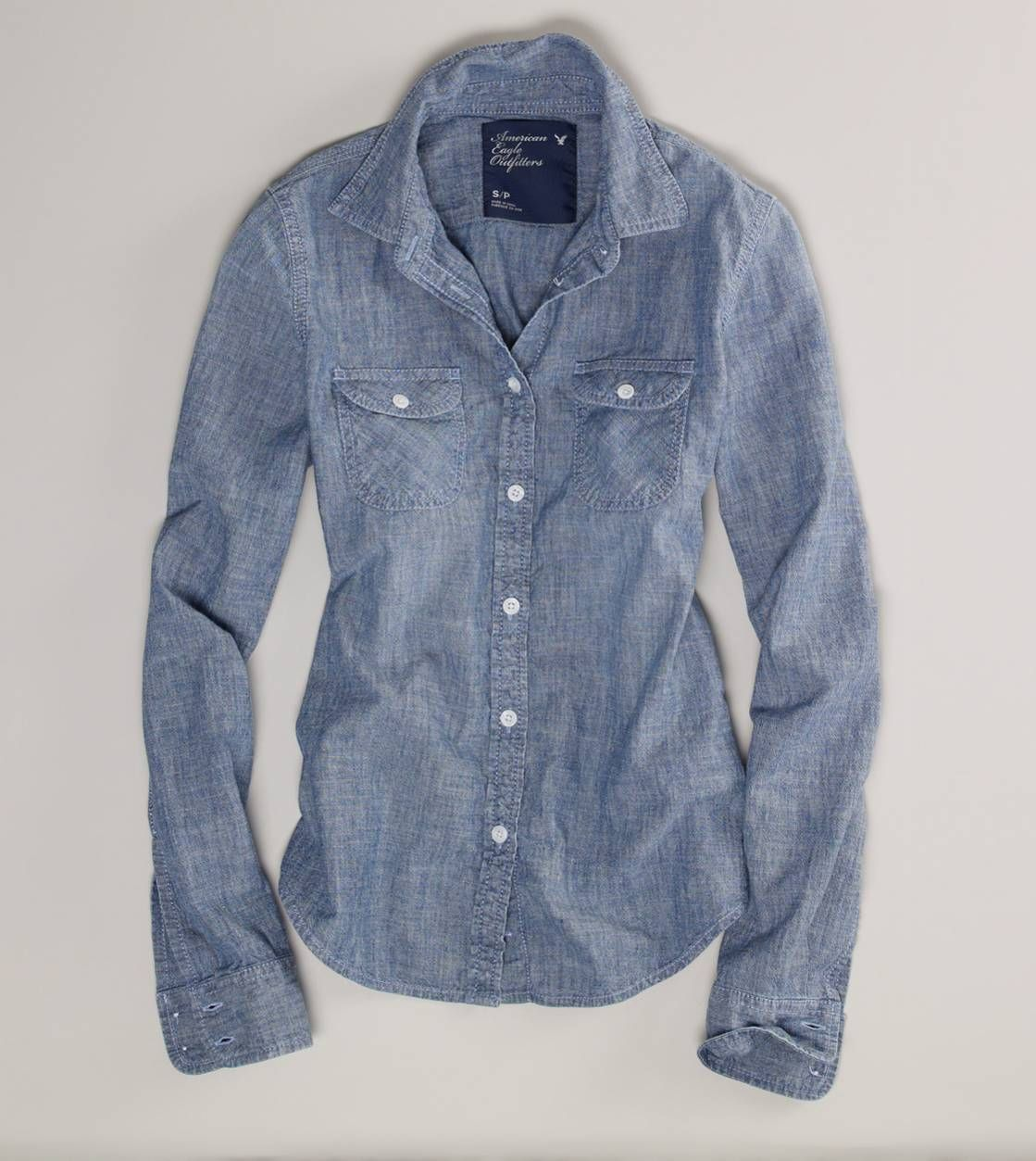 American Eagle Outfitters AE Chambray Western Shirt <3