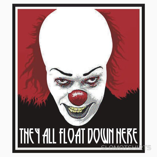 IT STEPHEN KING Pennywise killer clown movie poster
