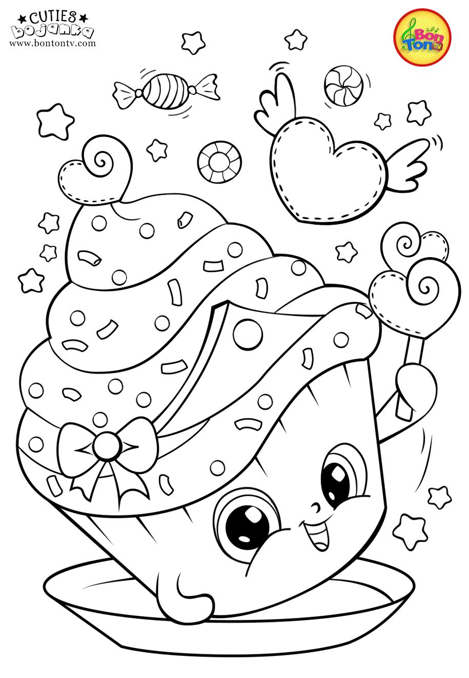 Cuties Coloring Pages For Kids Free Preschool Printables Slatkice Bojanke Cute Animal Free Kids Coloring Pages Spring Coloring Pages Cute Coloring Pages