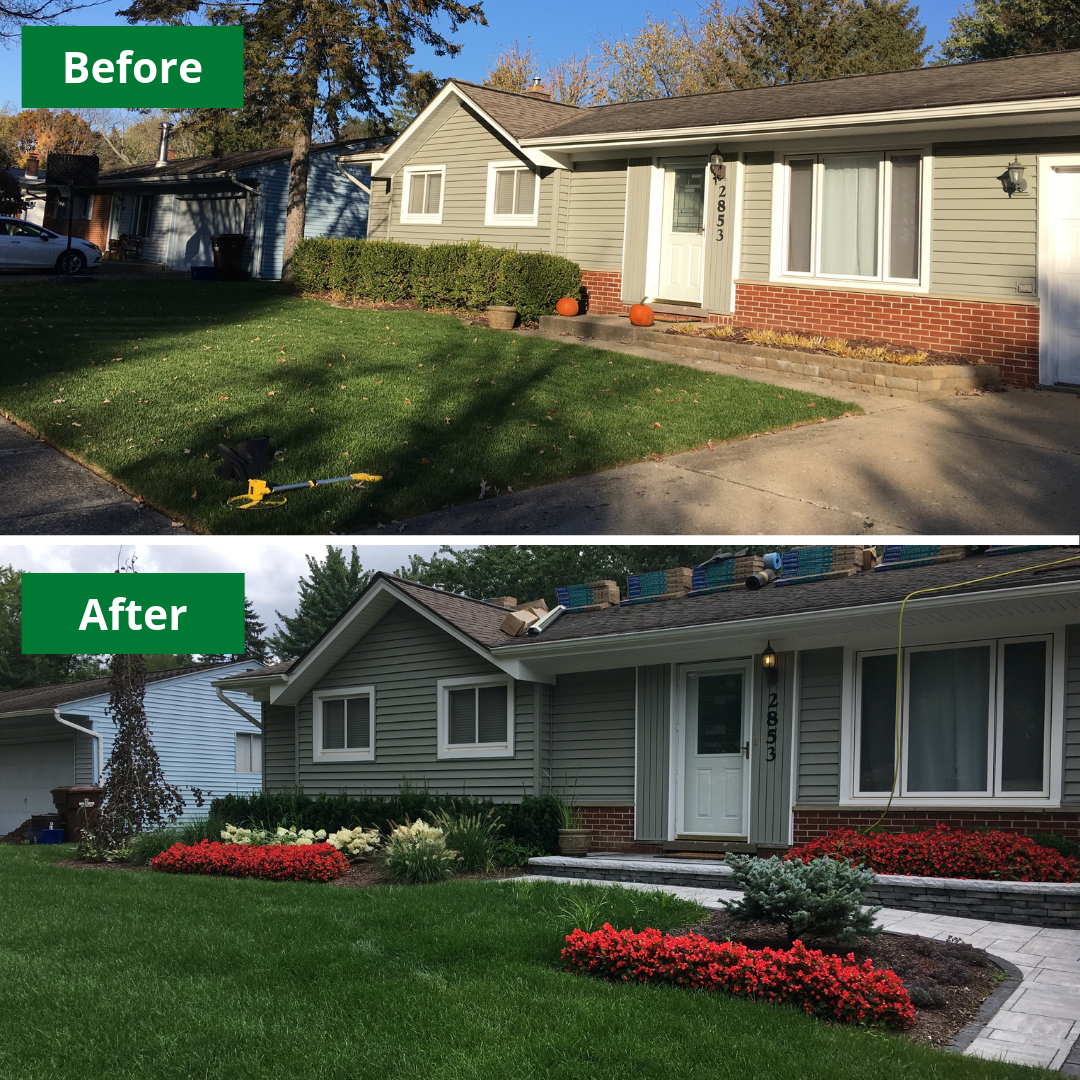 Just a little Monday morning makeover. This front yard ... on Front Yard Renovation Ideas id=53201