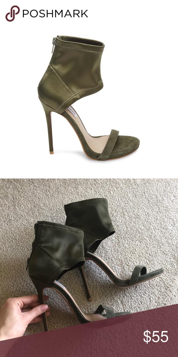 STEVE MADDEN TARA OLIVE   Green heels