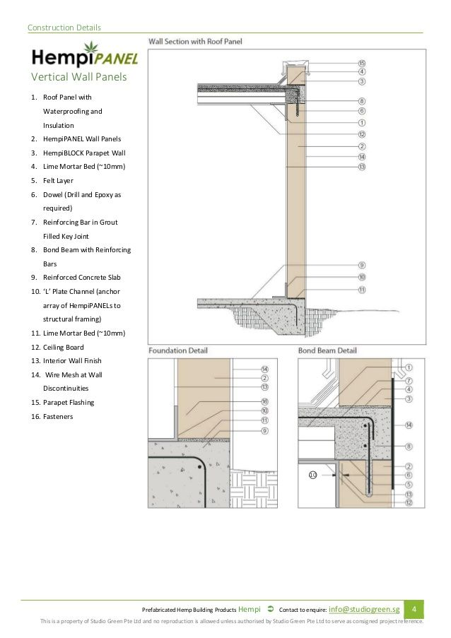 Prefabricated Hempcrete Specification And Installation Manual 2015 Installation Manual Prefab Roof Panels