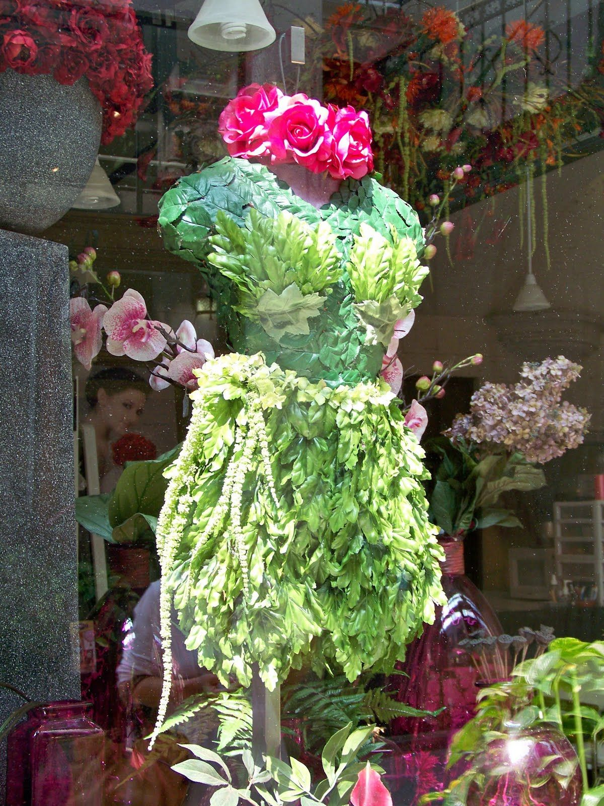 Flower Shop Window Displays The Comforts Of Home Asheville