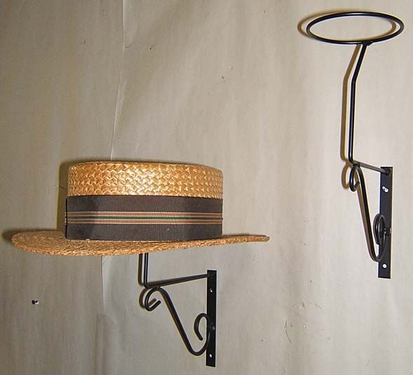 2 Decorative mnt Wall Hat Rack display general store US