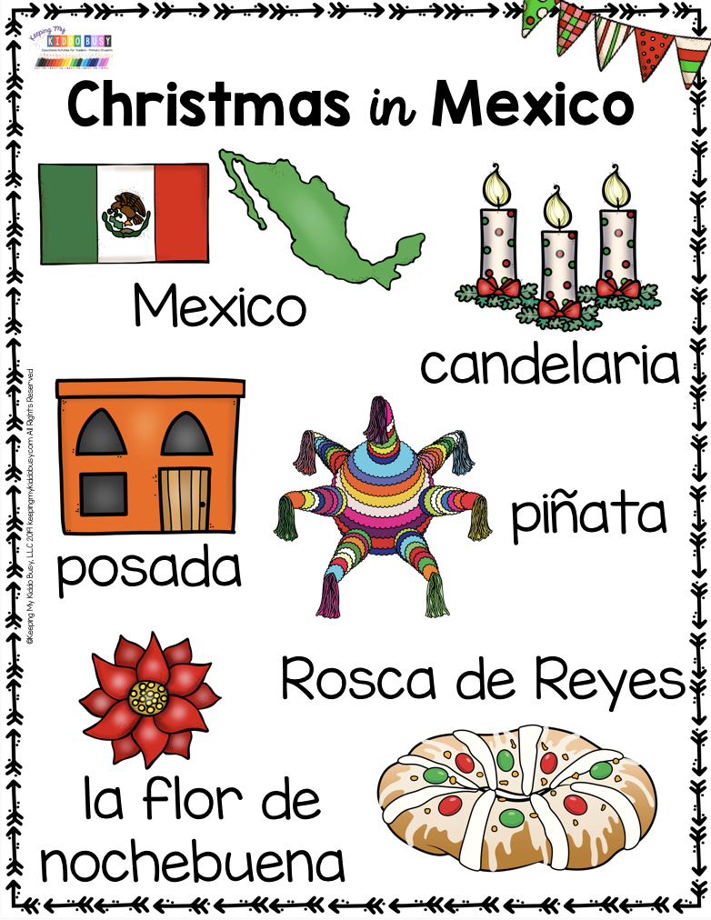 All About Christmas Free Activities Mexico Italy And Germany Keeping My Kiddo Busy Christmas Kindergarten Preschool Christmas Christmas School